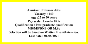 MSc MD MS DNB Diploma Job Opportunities as Assistant Professor