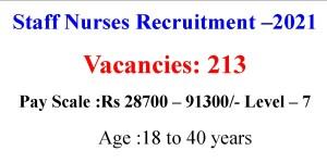 Staff Nurse Job Opportunities 213 Vacancies