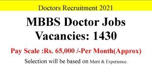 1430 MBBS Doctor Job Opportunities