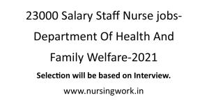 23000 Salary Staff Nurse jobs