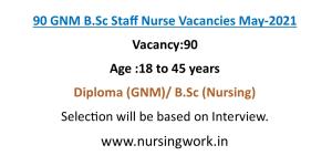 90 Staff Nurse Vacancies- Apply Online