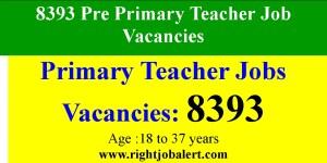8393 Pre Primary Teacher Job Vacancies