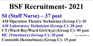 BSF Recruitment- 2021