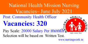 Community Health Officer Jobs for B.Sc Nursing and BAMS Candidates