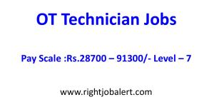 OT Technician Jobs with 28700-91300 Salary