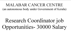 Research Coordinator job Opportunities- 30000 Salary