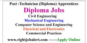 Civil Mechanical Electrical and Electronics Computer Science and Engineering Diploma Apprentice Jobs