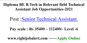 Diploma BE B.Tech in Relevant field Technical Assistant Job Opportunities