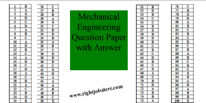 Mechanical Engineering Solved Question Paper Answers