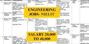 NIELIT Engineering Vacancies- 20000-40000 Salary