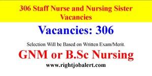 306 Staff Nurse and Nursing Sister Vacancies