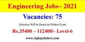 Engineering Vacancies with 35400-112400 Salary