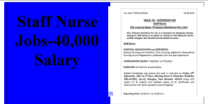 Nursing Jobs with 40000 Salary for GNM BSc Nursing Candidates