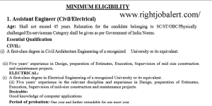 Electrical and Civil Assistant Engineer Jobs- Level 7 Pay Scale