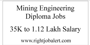 Mining Engineering Diploma Jobs 35K to 1.12 Lakh Salary