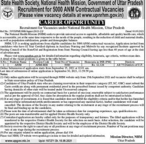 5000 ANM Nurses Recruitment Notification- Apply Online