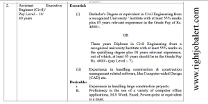 Civil Engineering BE BTech or 3 year Diploma Jobs