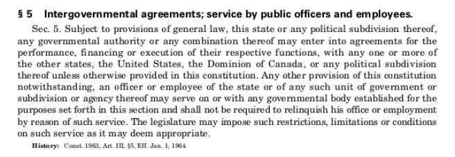 Michigan Constitution of 1963 Article III Section 5