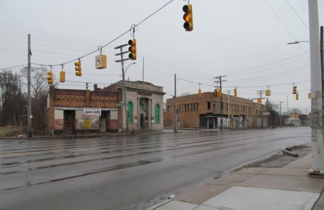 Nor was this typical Detroit intersection.