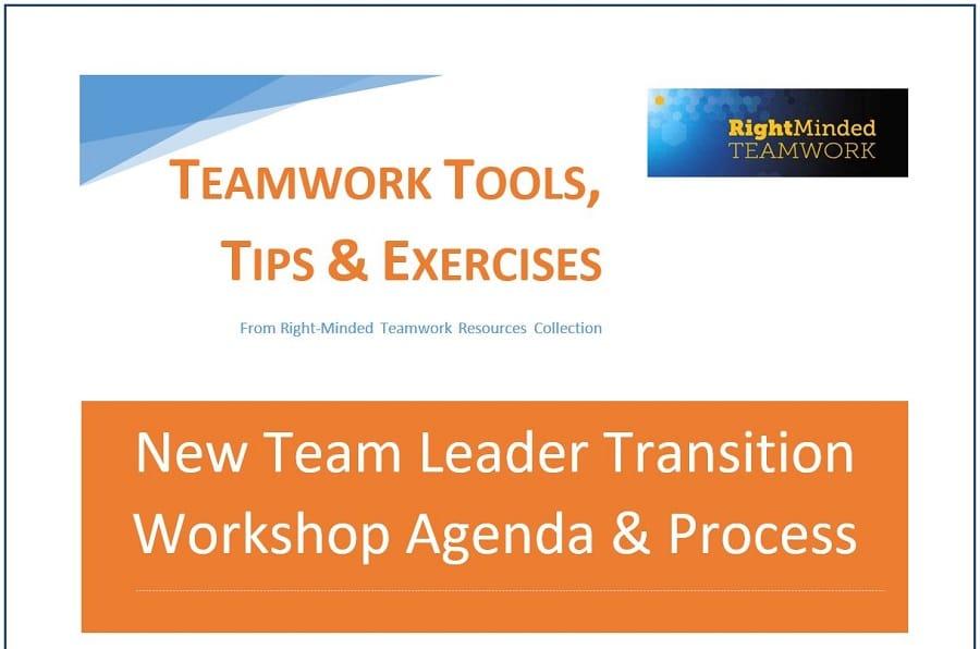 New Team Leader Transition Workshop  Right Minded Teamwork