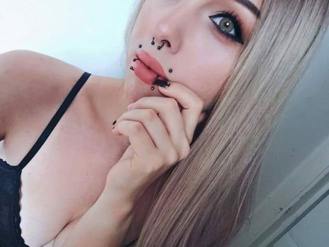 multiple piercings girl