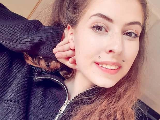 angel bites piercing with smile