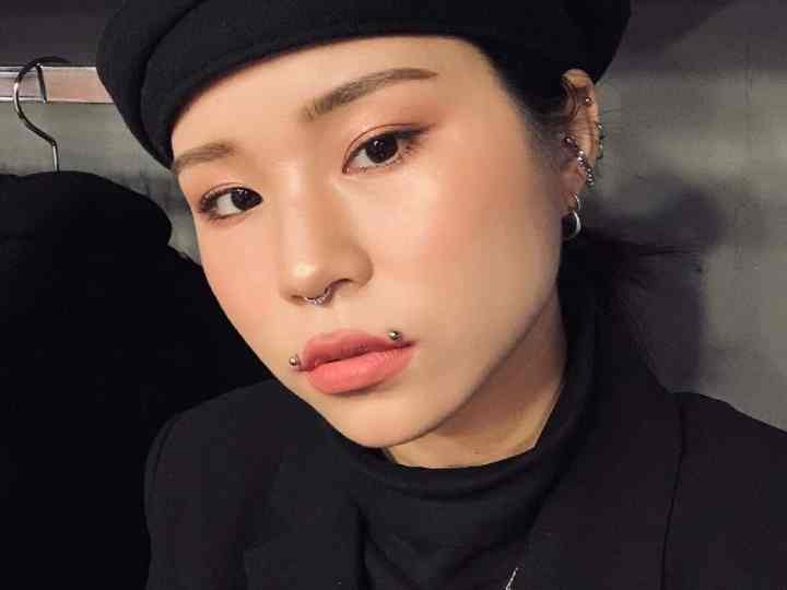 black asian angel bites piercing