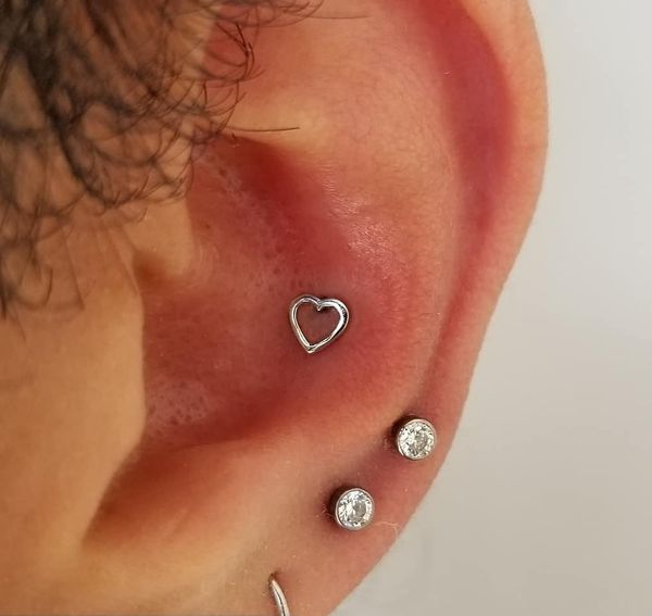 conch piercing heart jewelry