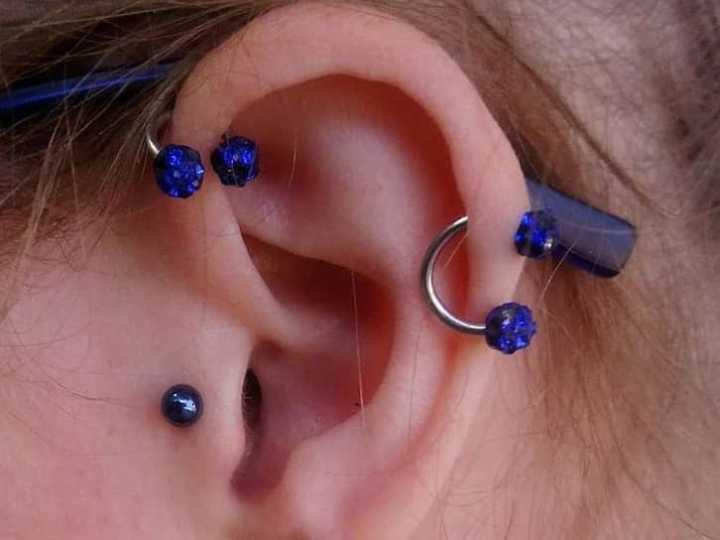 cute forward helix piercing