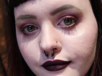 double nose hoop piercing
