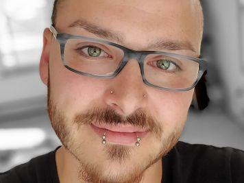 double nose piercing men