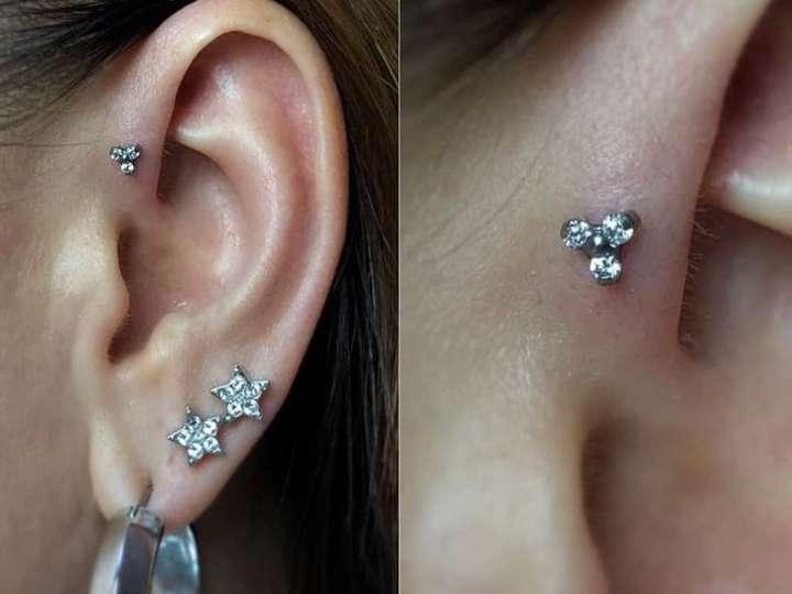 forward helix piercing jewelry size
