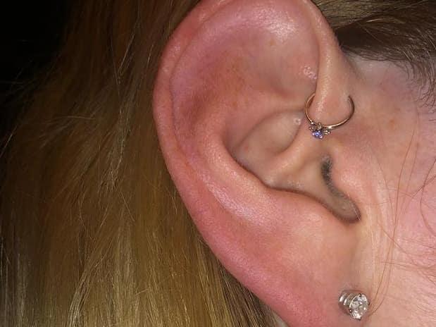 hoop forward helix piercing