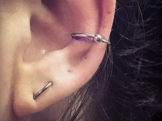 piercing on lobe orbital