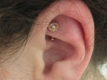 rook piercing gold jewelry