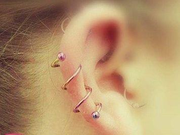 spiral ear piercing ideas