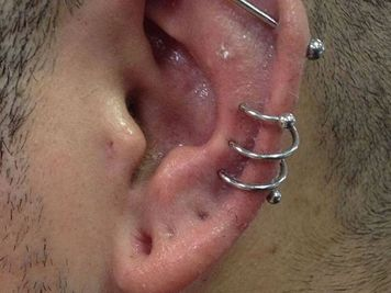 spiral ear piercing rings