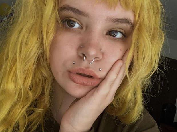 upper lips piercing types