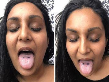 venom surface tongue piercing