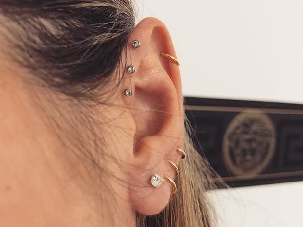 where to get triple forward helix piercing