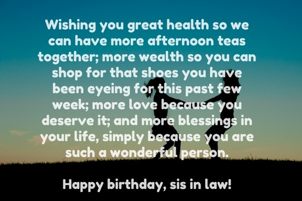 Sister Birthday Sentimental Wishes