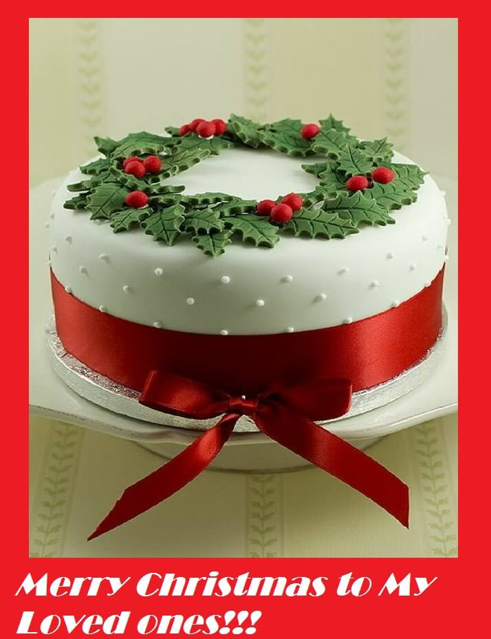 merry christmas cake wishes