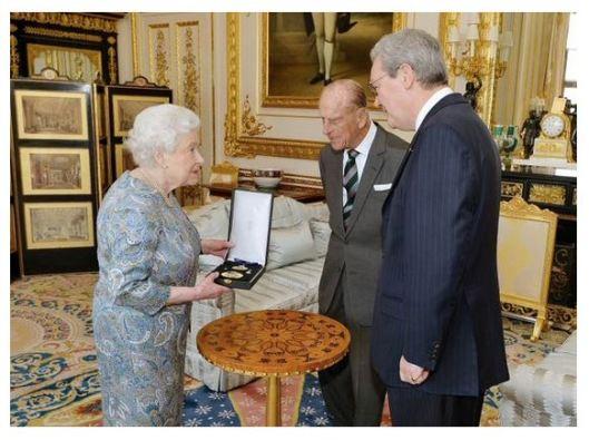Queen Elizabeth II, Prince Philip and Australian High Commissioner, Alexander Downer.