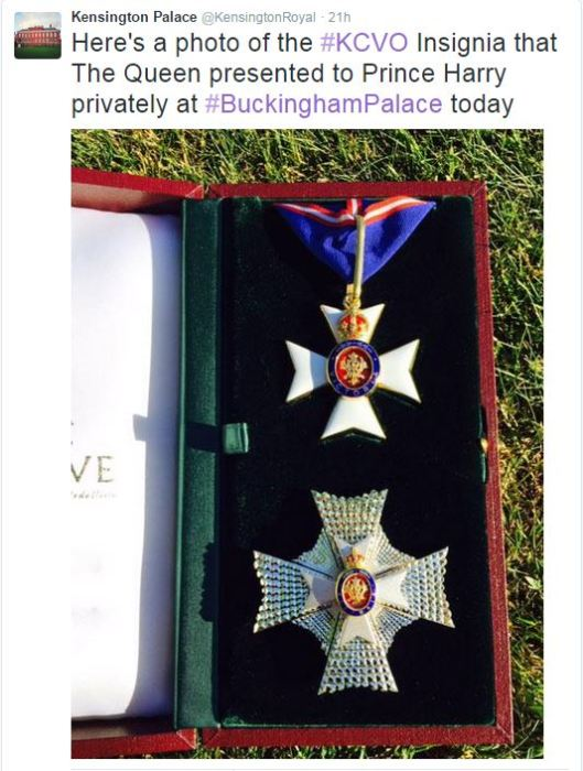 Prince Harry's KCVO Insignia