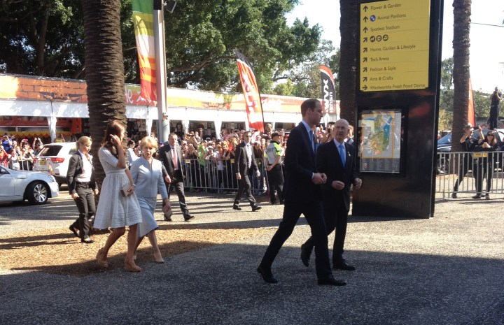 The Duke and Duchess of Cambridge arrive at the Royal Easter Show. © Carolyn M Cash