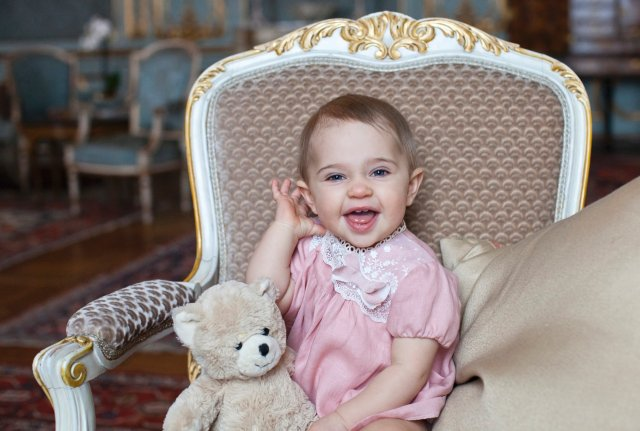 HRH Princess Leonore 1 year. Photo Brigitte Grenfeldt, The Royal Court, Sweden