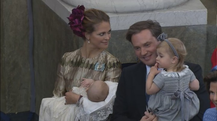 Princess Madeleine and her husband, Christopher O'Neill, with their children, Prince Nicolas and Princess Leonore.