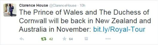 Announcement from Clarence House.