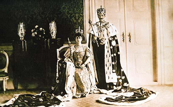 The coronation of King Haakon VII and Queen Maud of Norway on 22 June 1906