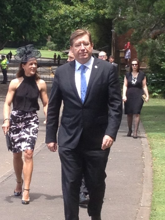 NSW Deputy Premier Troy Grant arrives at Government House, Sydney.